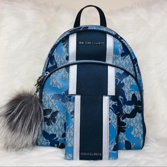Michael Kors Handbags - 3PCS Michael Kors Abbey Butterflies Backpack Set